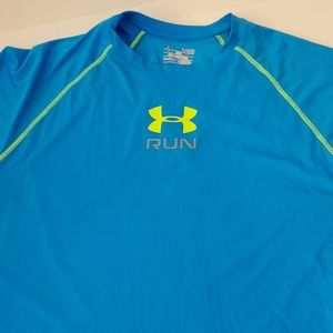 Under Armour Loose Fit Blue & Lime Shirt XL